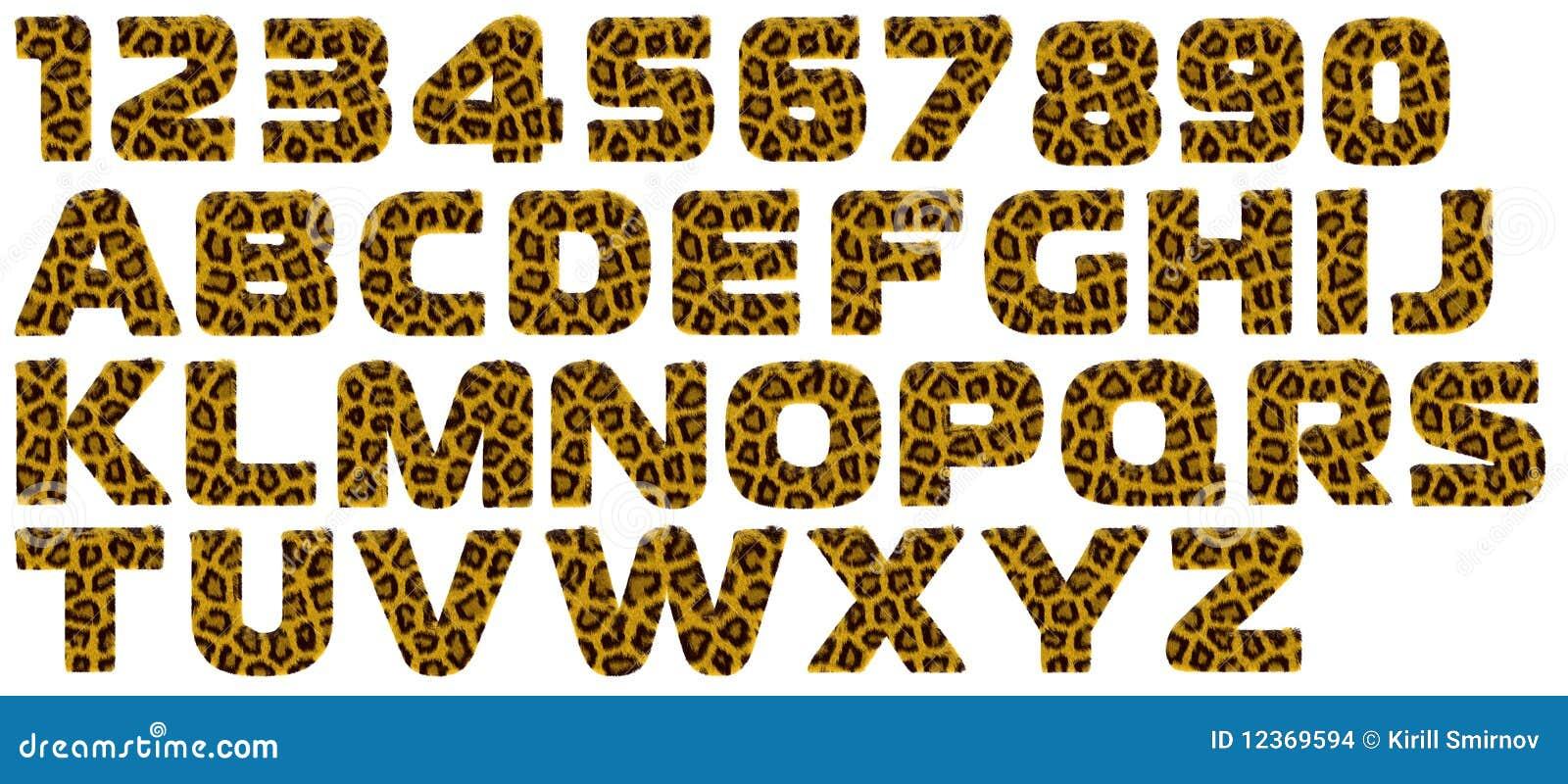 Letter From Tiger Style Fur Alphabet Stock Illustration