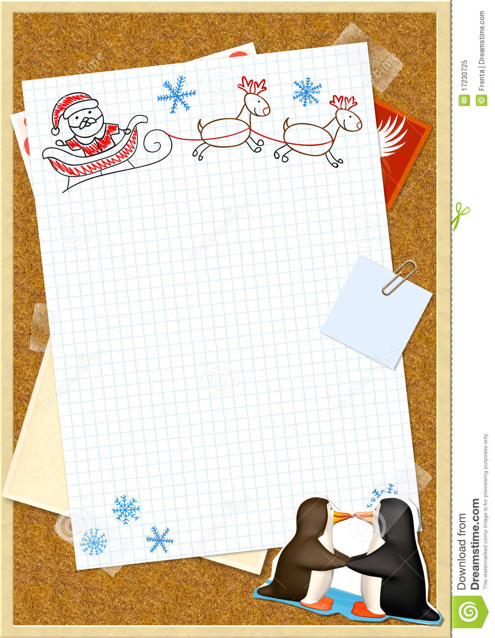 Letter To Santa Claus Stock Image Image Of Cartoon Greeting