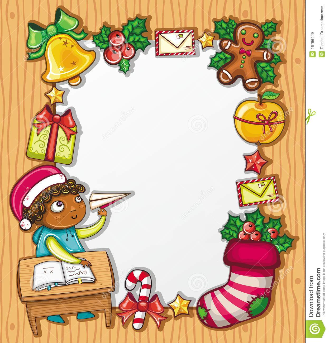 Letter To Santa Claus  Stock Vector Illustration Of Banners