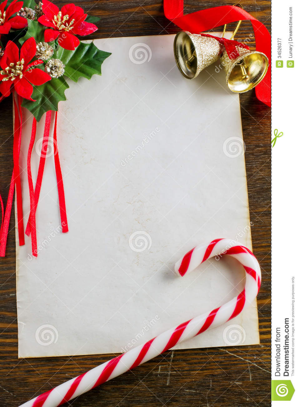 Letter To Santa Claus Stock Image Image Of Christmas