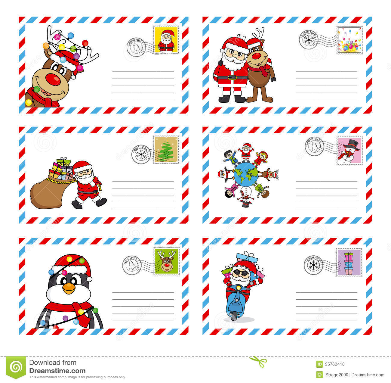Letter To Santa Claus Stock Photo - Image: 35762410