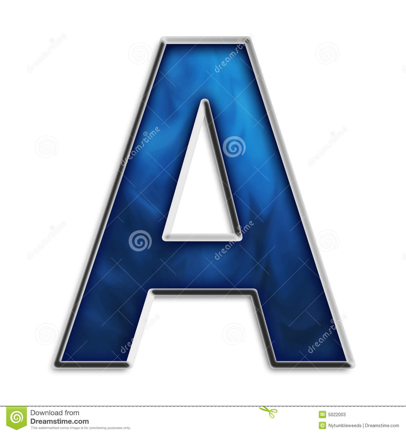 Letter A In Tribal Blue Stock Photos - Image: 5022003