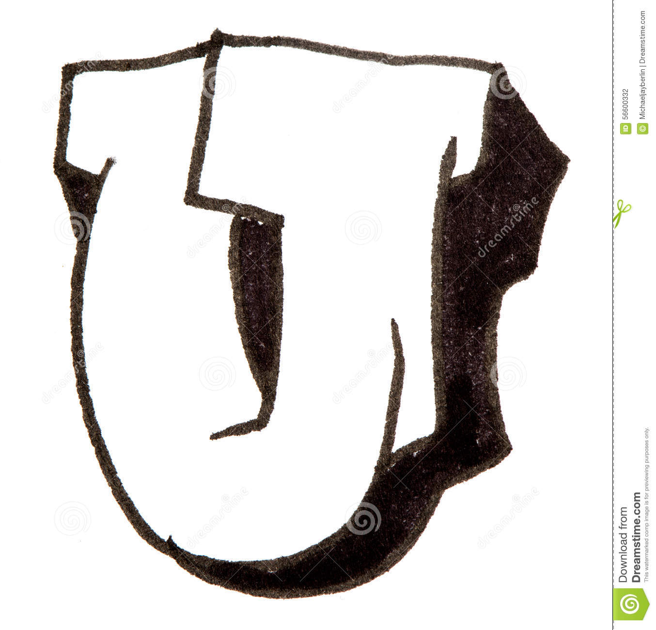 U Graffiti Letters Letter U, Alphabet In ...