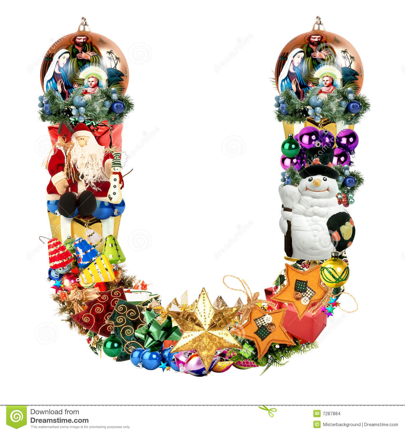Letter u for christmas decoration stock illustration image 7287884 for Decoration image