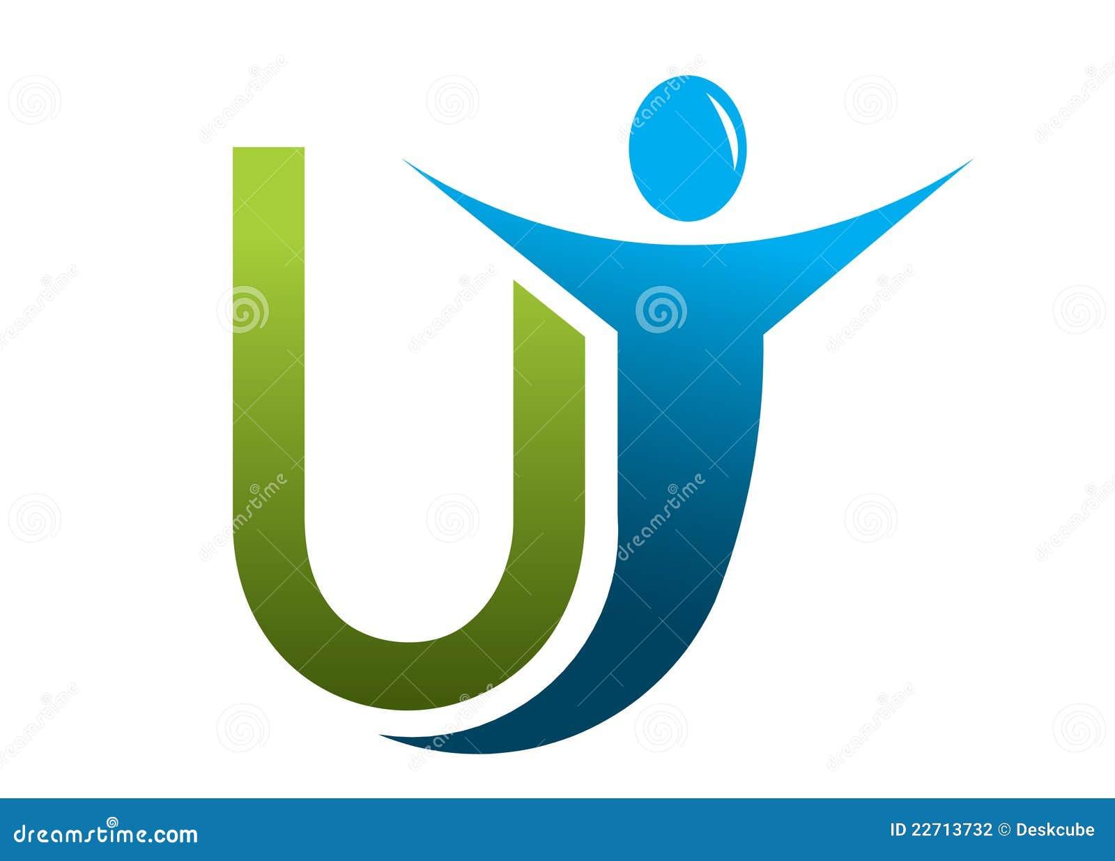 U Logo Design Letter U logo man