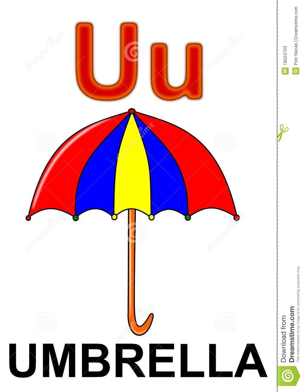 Letter U Umbrella Stock Photos Image 18024703