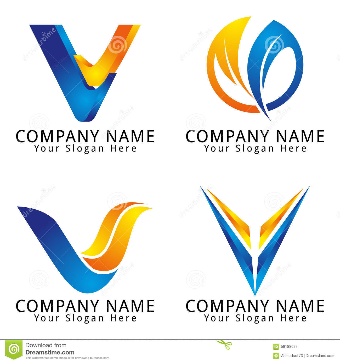 Stock Photo  Let...V Company Logo