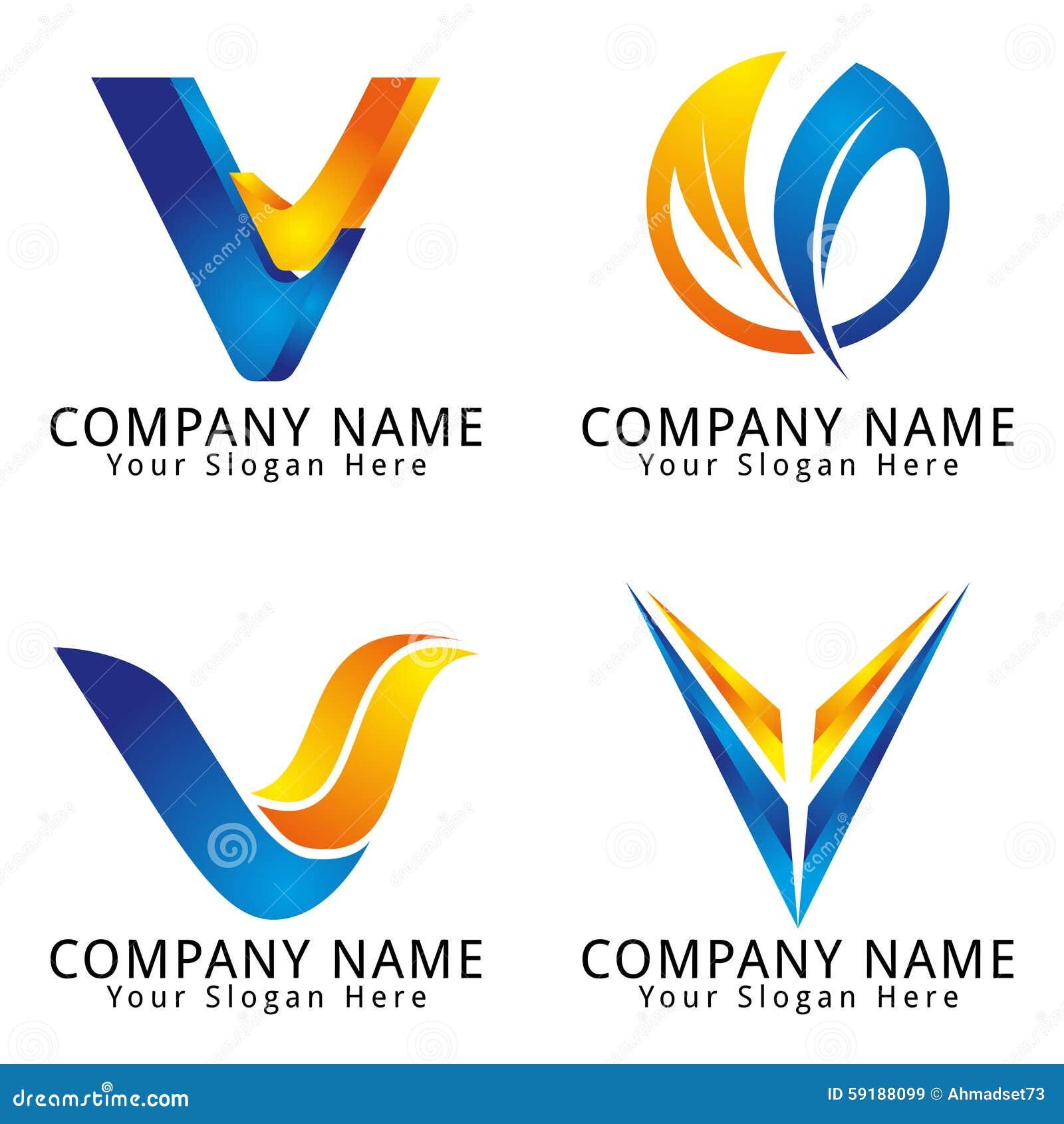 V Company Logo Stock Photo: Letter V ...