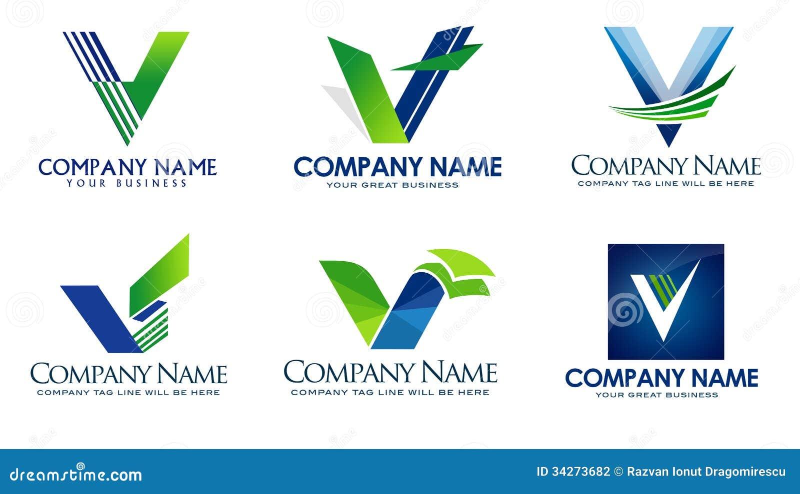 V Company Logo V Logo Stock Photography