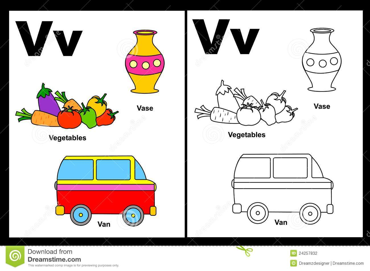 Letter V Worksheet Photography Image 24257832 – Letter V Worksheets for Kindergarten