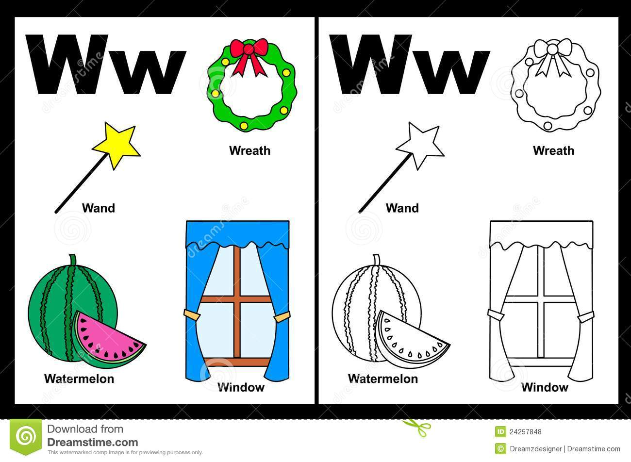 Letter W Worksheet Royalty Free Photos Image 24257848 – Letter W Worksheet