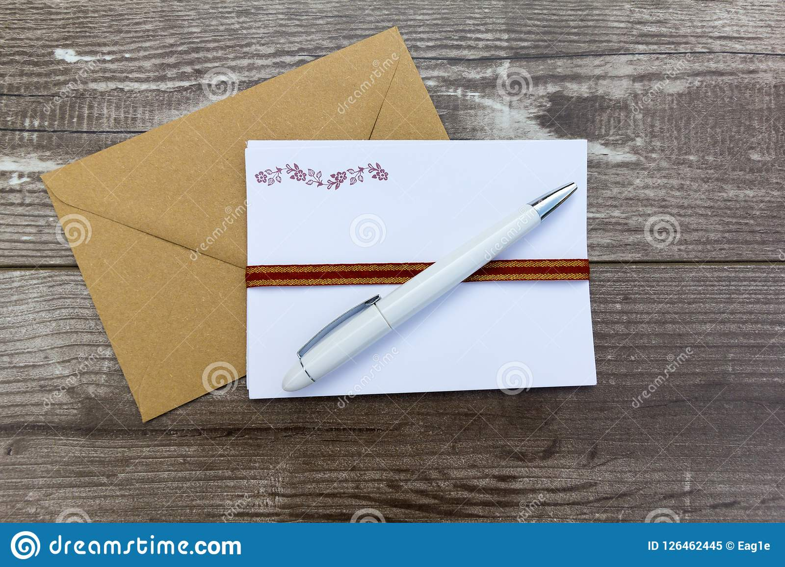 letter writing materials stock image image of communication 126462445
