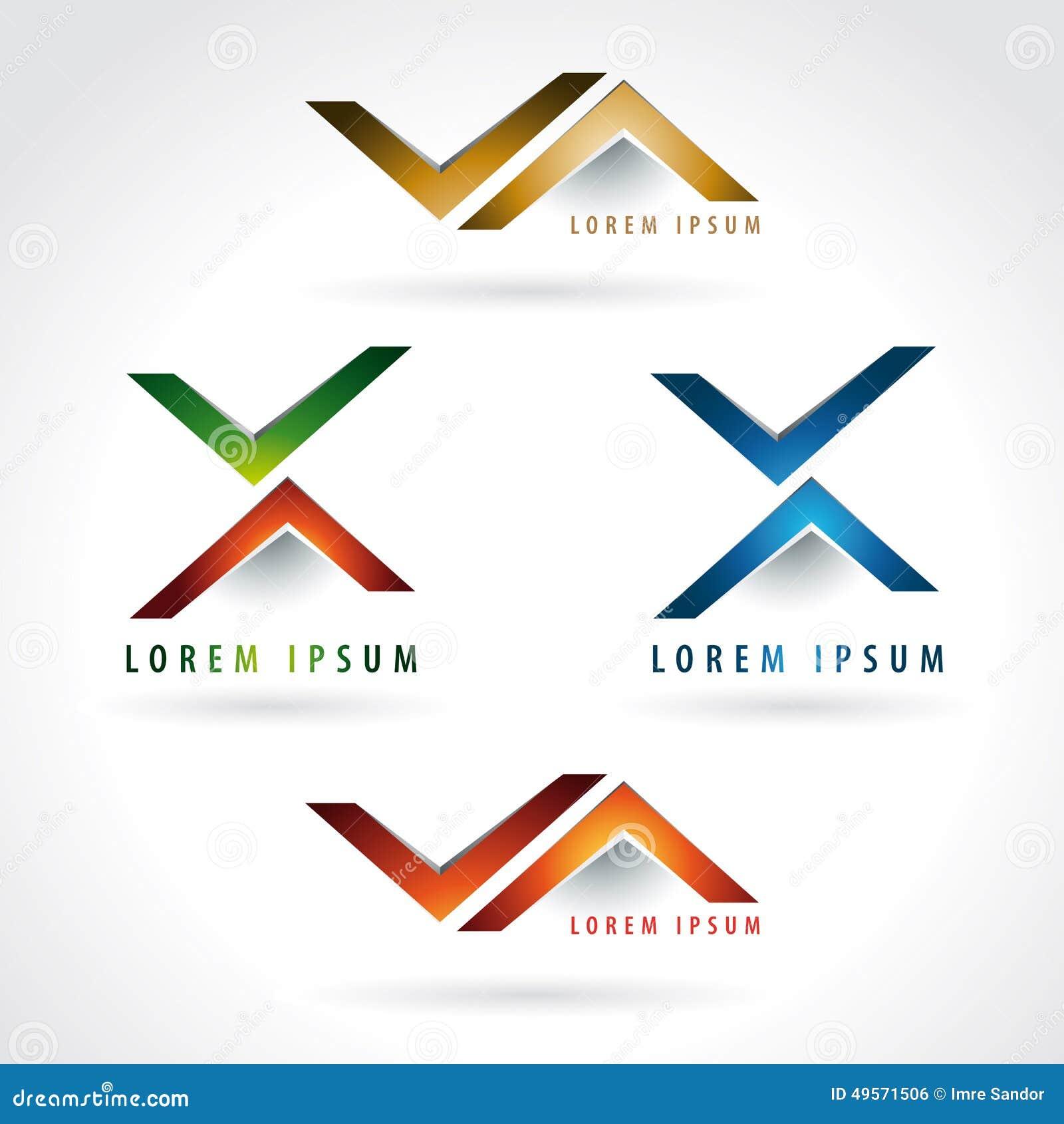 Classroom Design Arrow Or X ~ Letter and arrow shape logo stock vector image