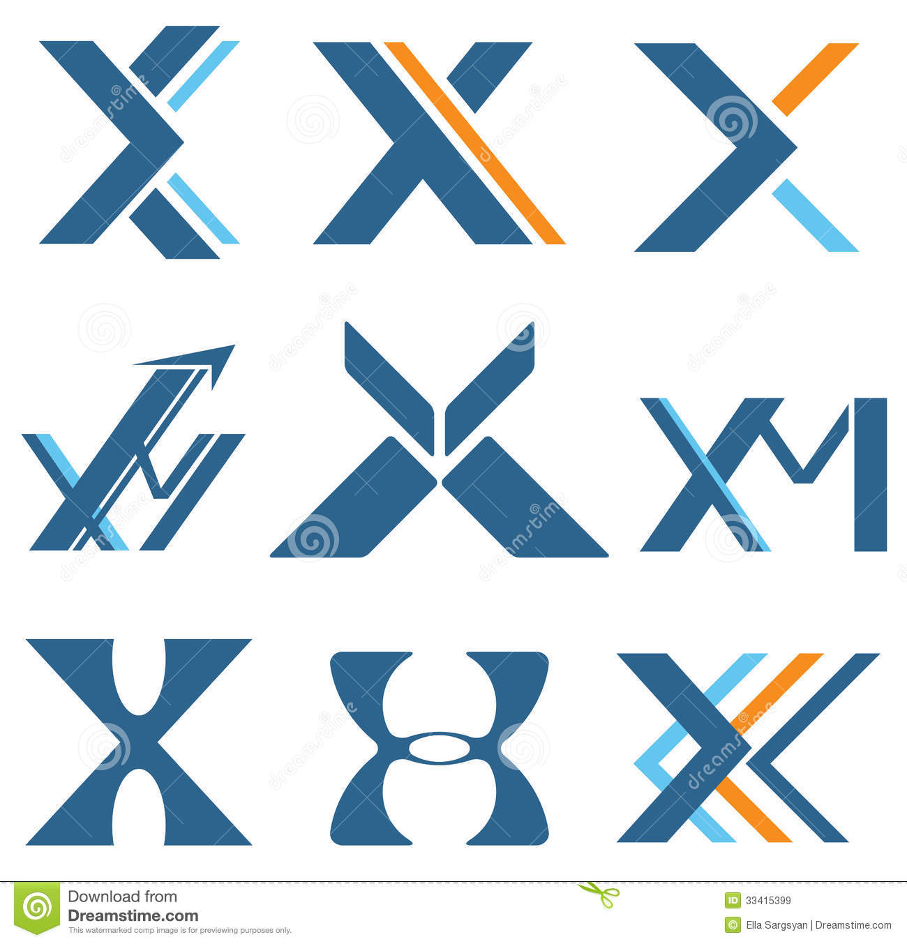 Letter X Royalty Free Stock Images Image 33415399