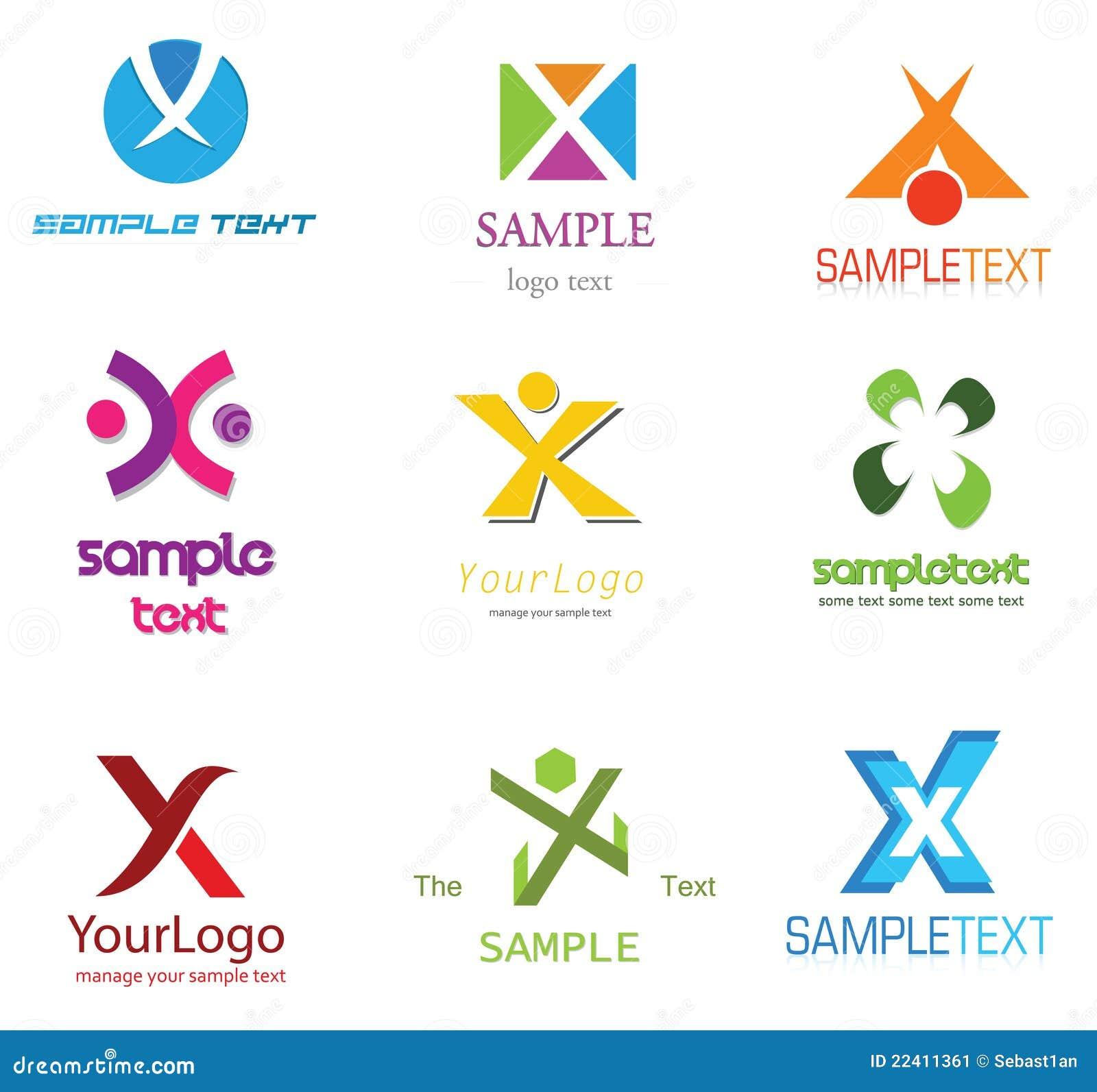 Alphabetical Logo Design Concepts. Letter X.
