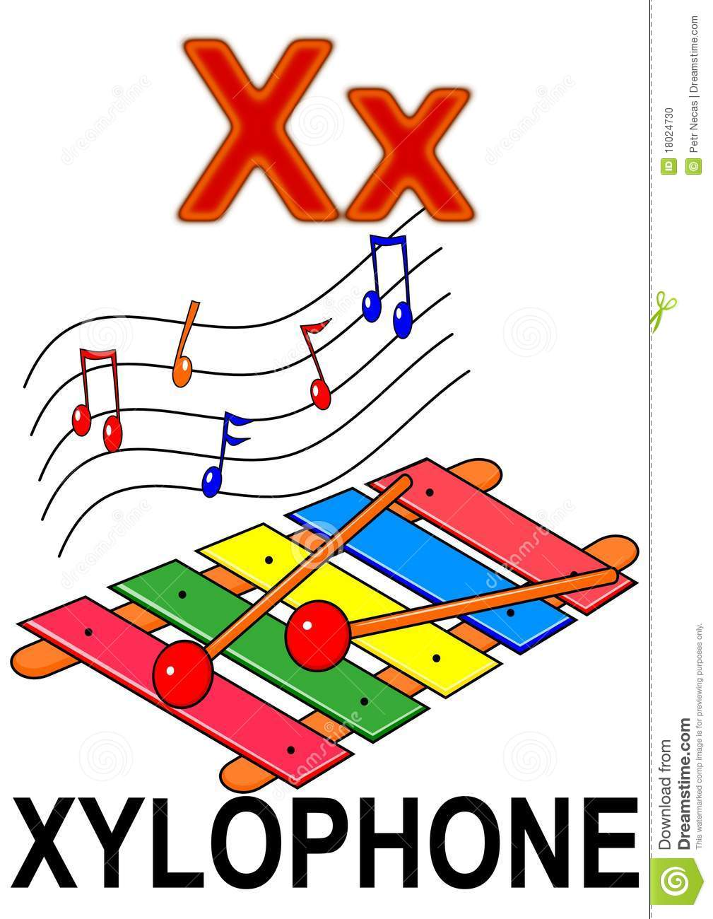 letter x xylophone stock photo image 18024730