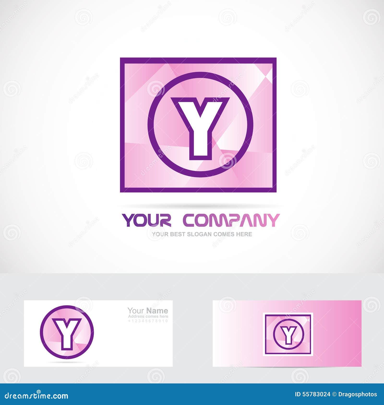 letter y purple logo