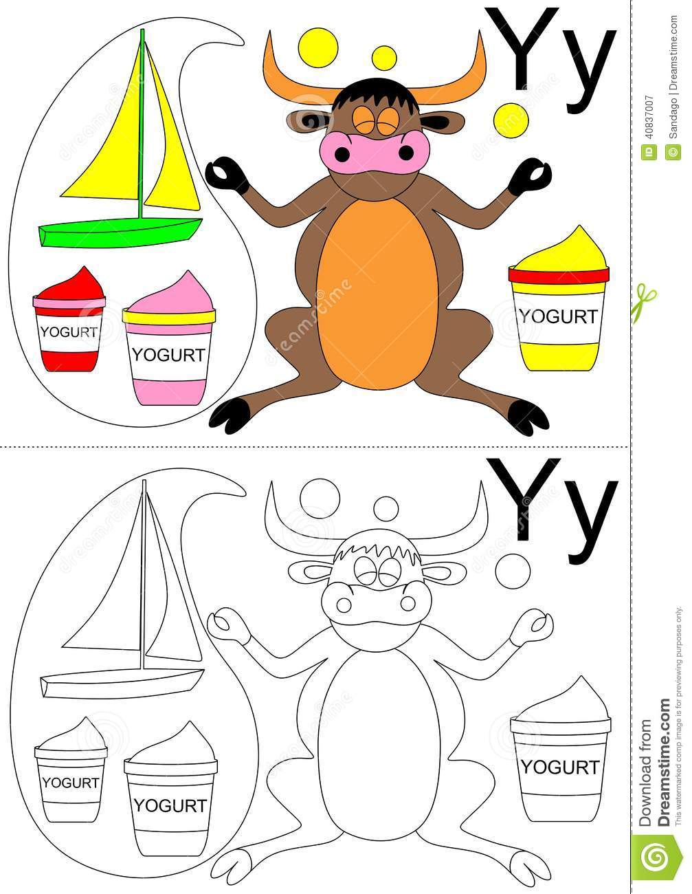 math worksheet : letter y worksheet stock vector  image 40837007 : Letter Y Worksheets For Kindergarten