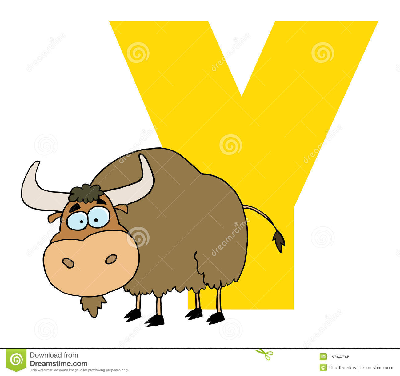 Letter y with a yak stock vector. Illustration of designs ...