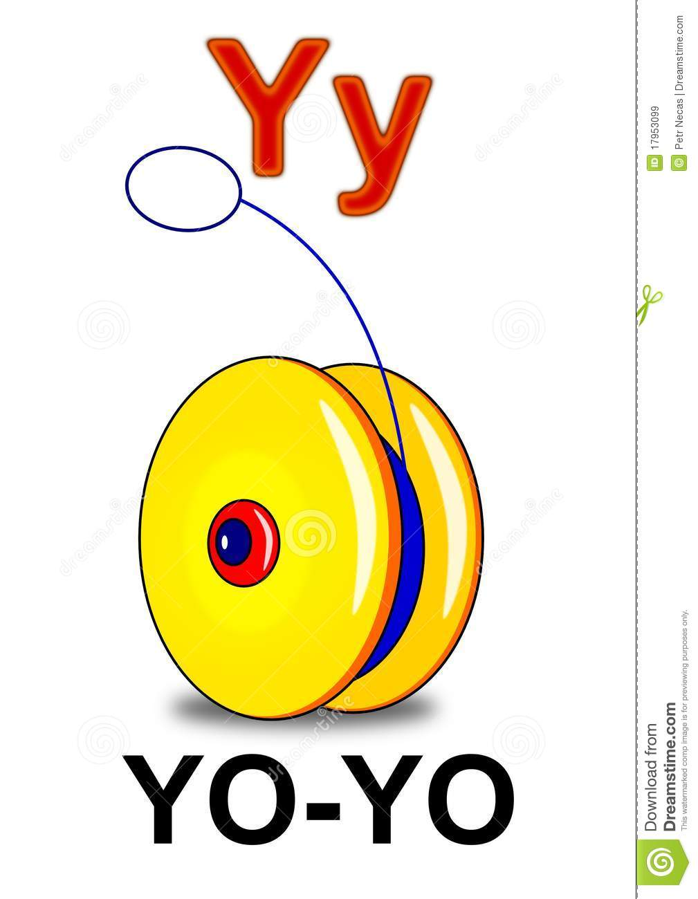 Letter Y Yo-yo Royalty Free Stock Images - Image: 17953099