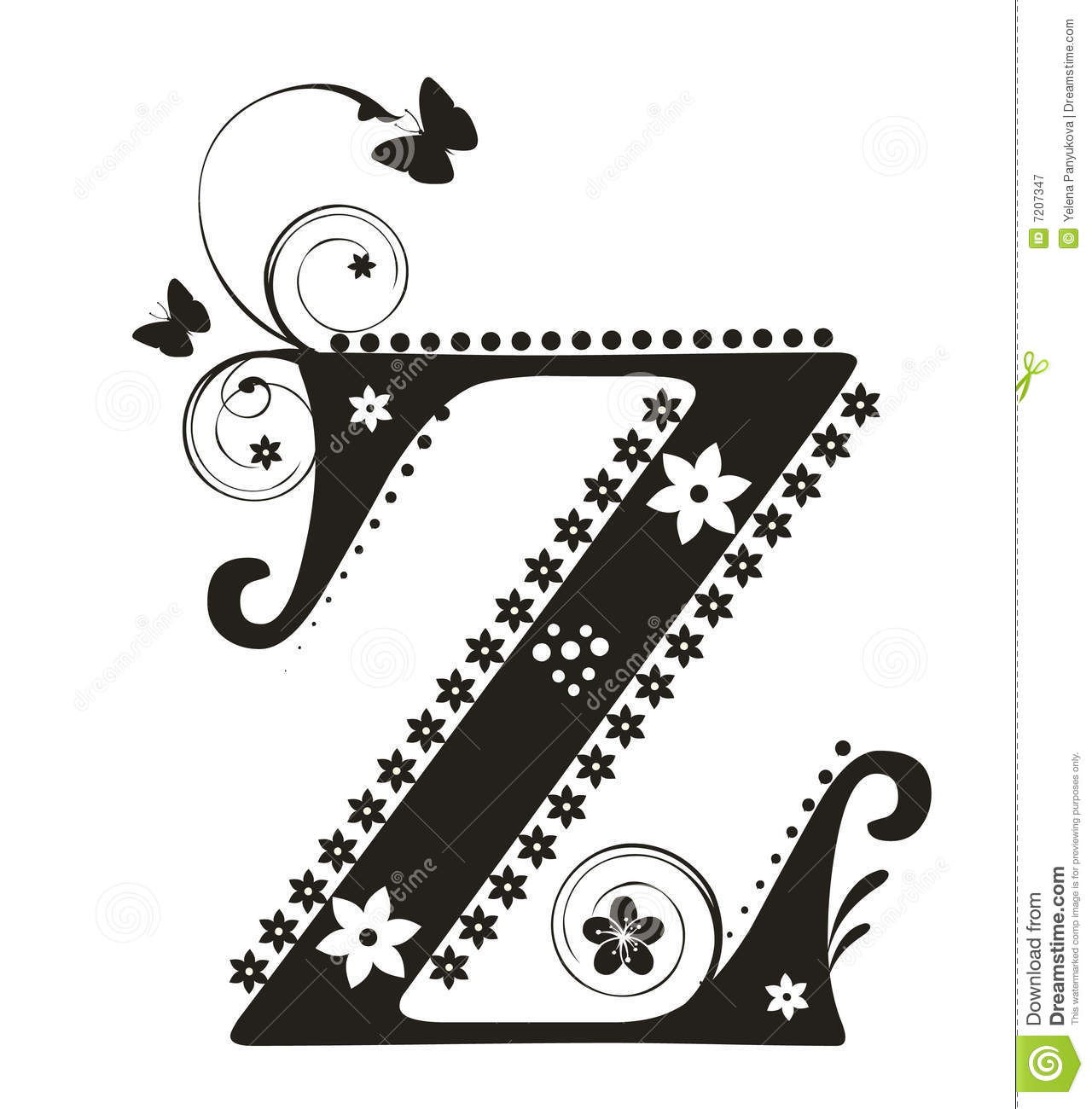 Letter Z Royalty Free Stock Photography - Image: 7207347