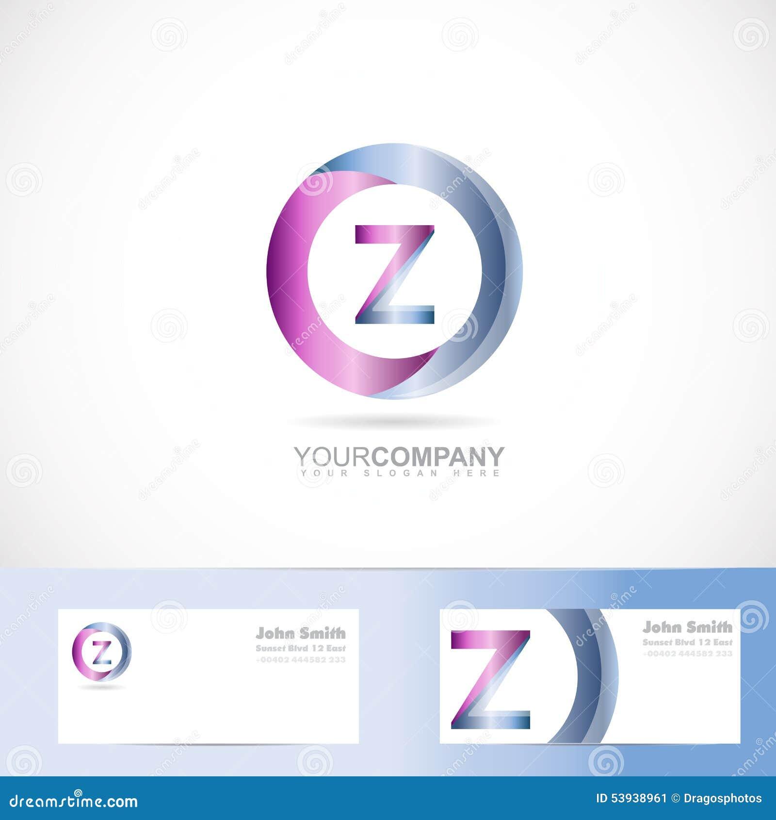letter z cirlce logo stock vector image 53938961