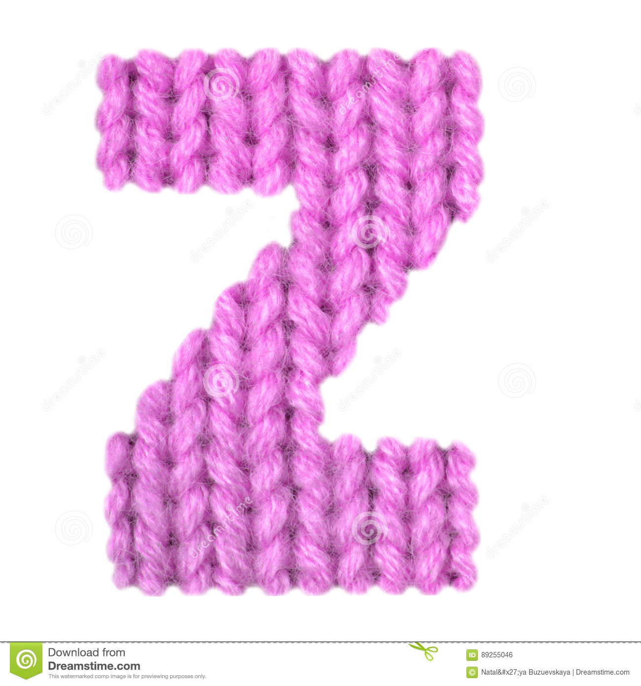 Letter Z English Alphabet, Color Pink Stock Photo - Image of