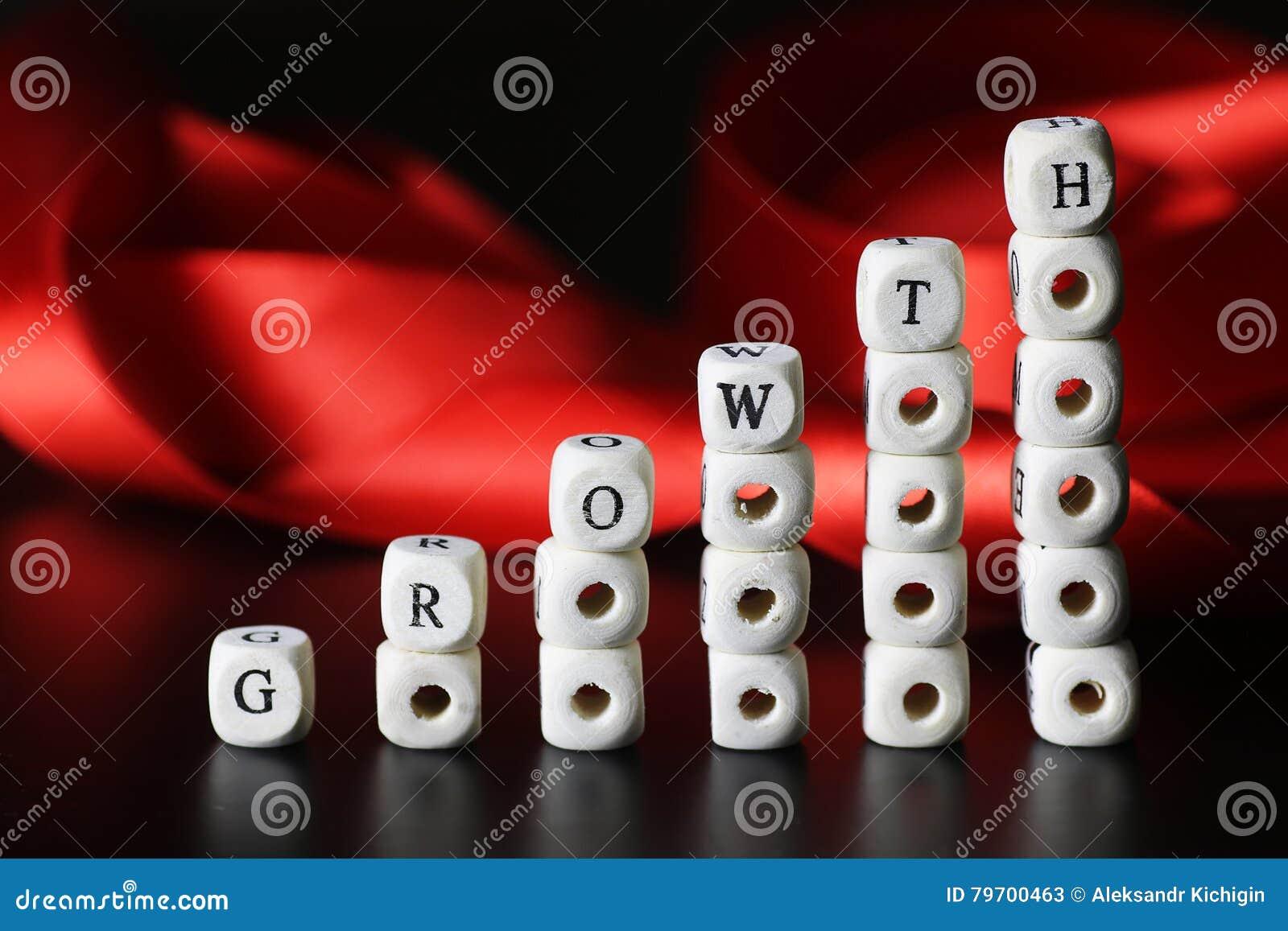 Lettera del testo di crescita