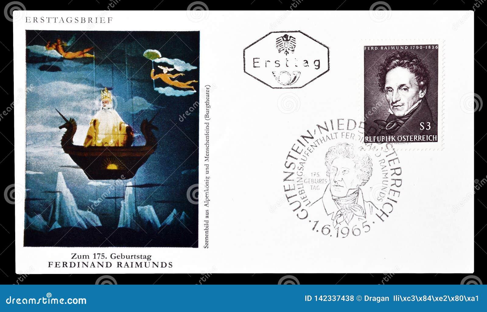Lettera di busta primo giorno stampata dall Austria
