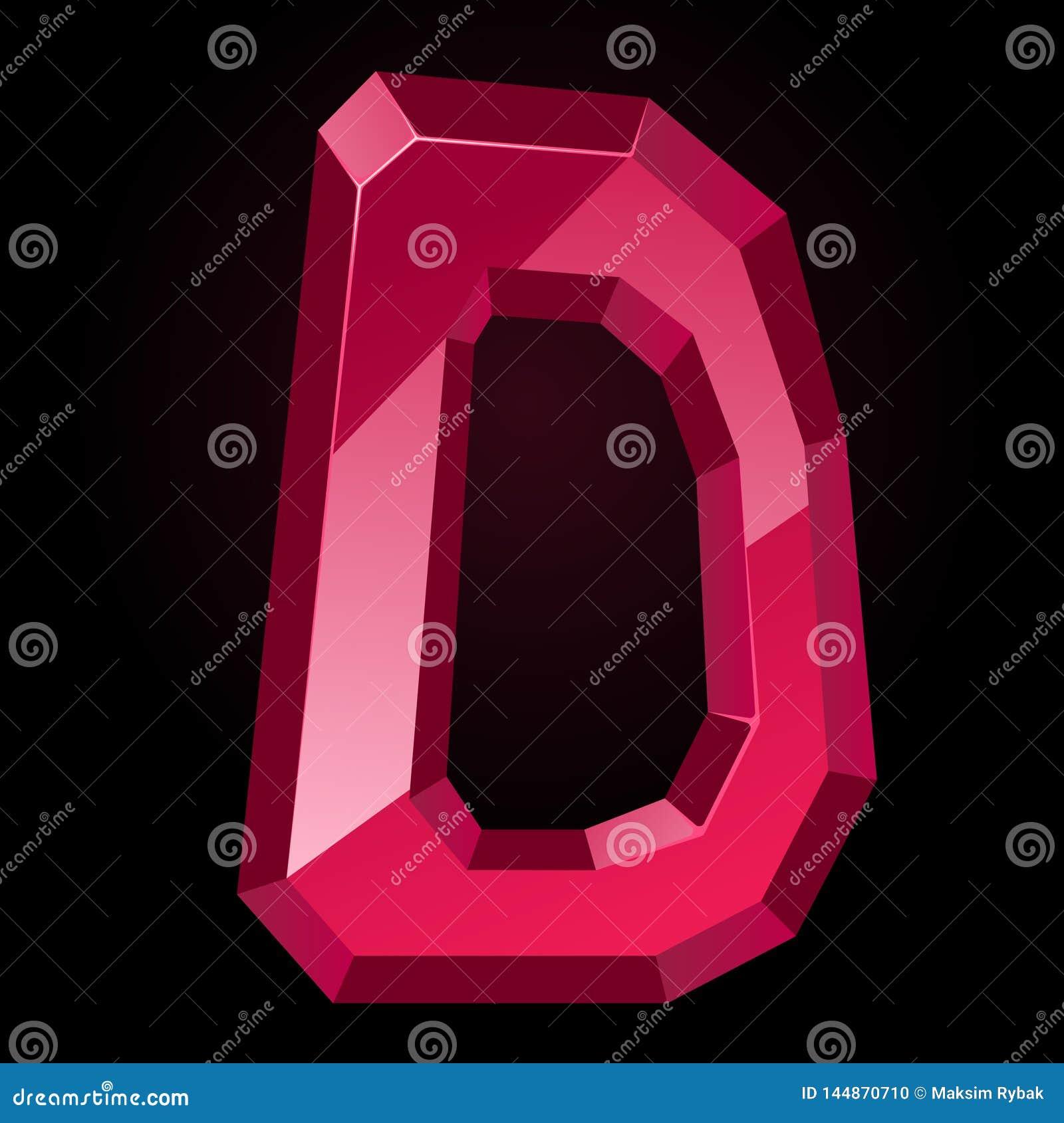 Lettera vermiglia D