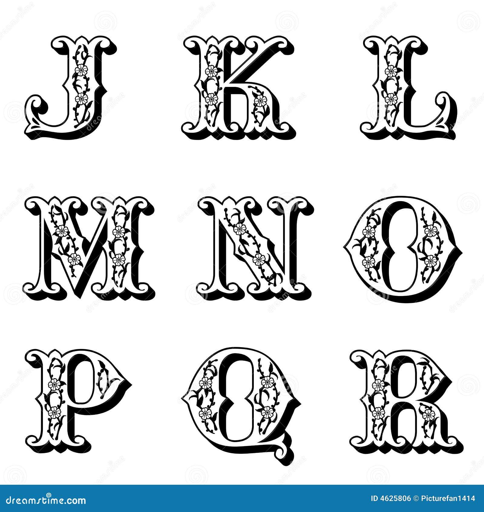 Lettere capitali 2 del fiore illustrazione di stock - Lettere stampabili di medie dimensioni ...