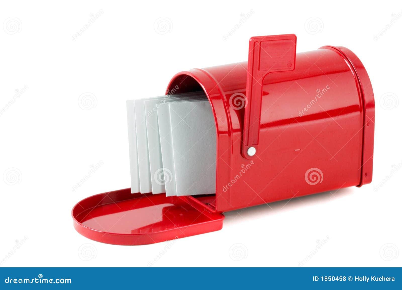 Lettere In Cassetta Postale Rossa Fotografia Stock