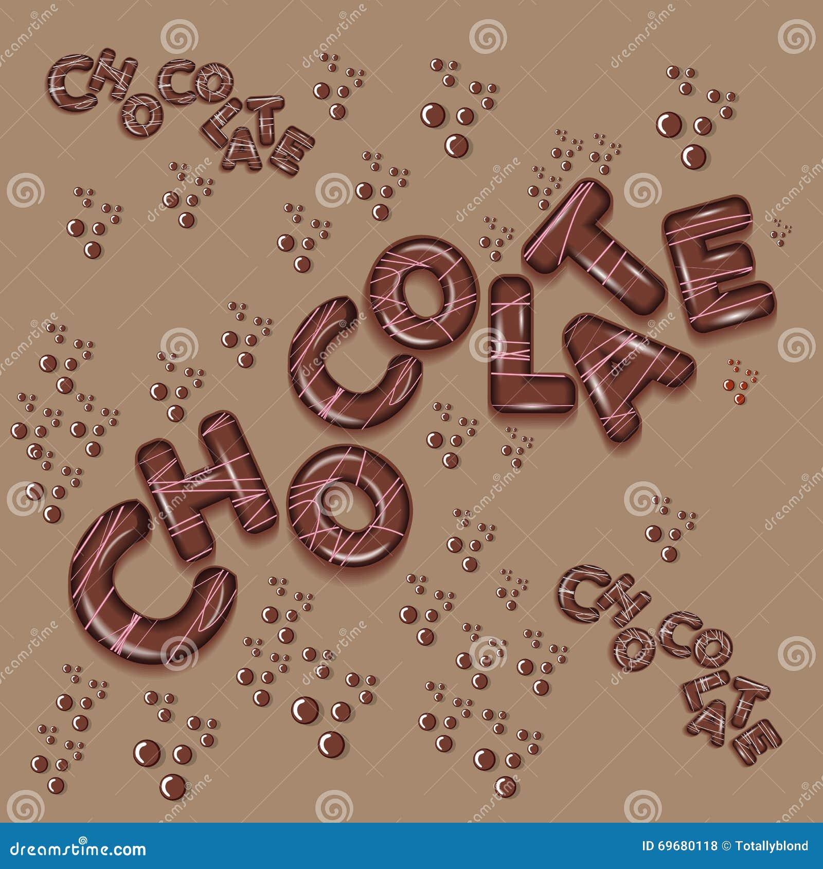 Lettere di progettazione 3d di logo del cioccolato for Progettazione 3d gratis