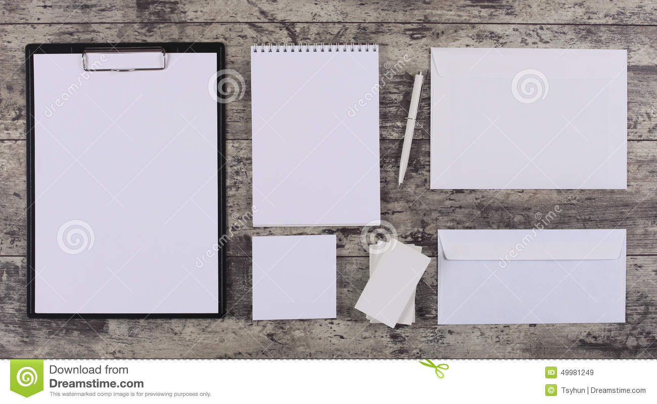 Letterhead And Identity Design Mockup Stock Photo Image