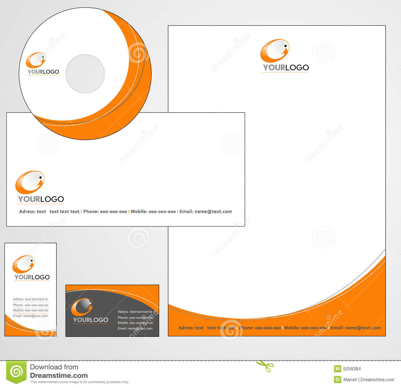 Letterhead Template Design - Vector Stock Images - Image: 5259384