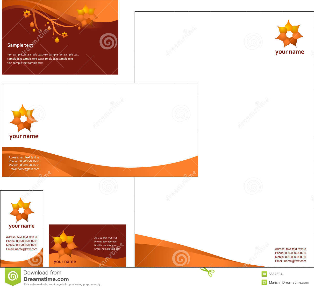 Letterhead template design vector illustration 5552694 megapixl spiritdancerdesigns