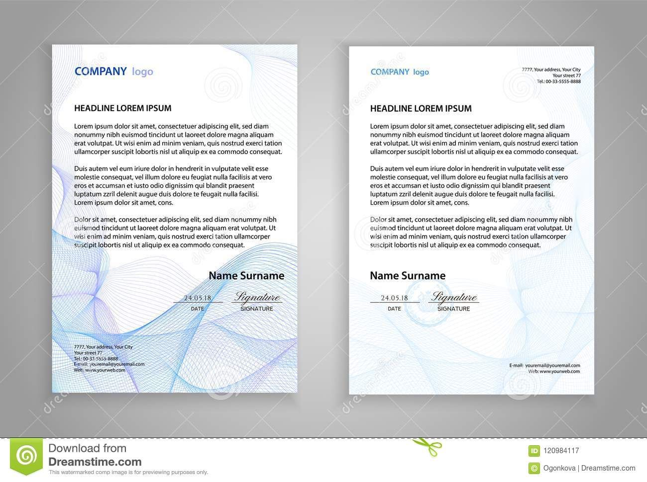 letterhead template printable business letter layout modern