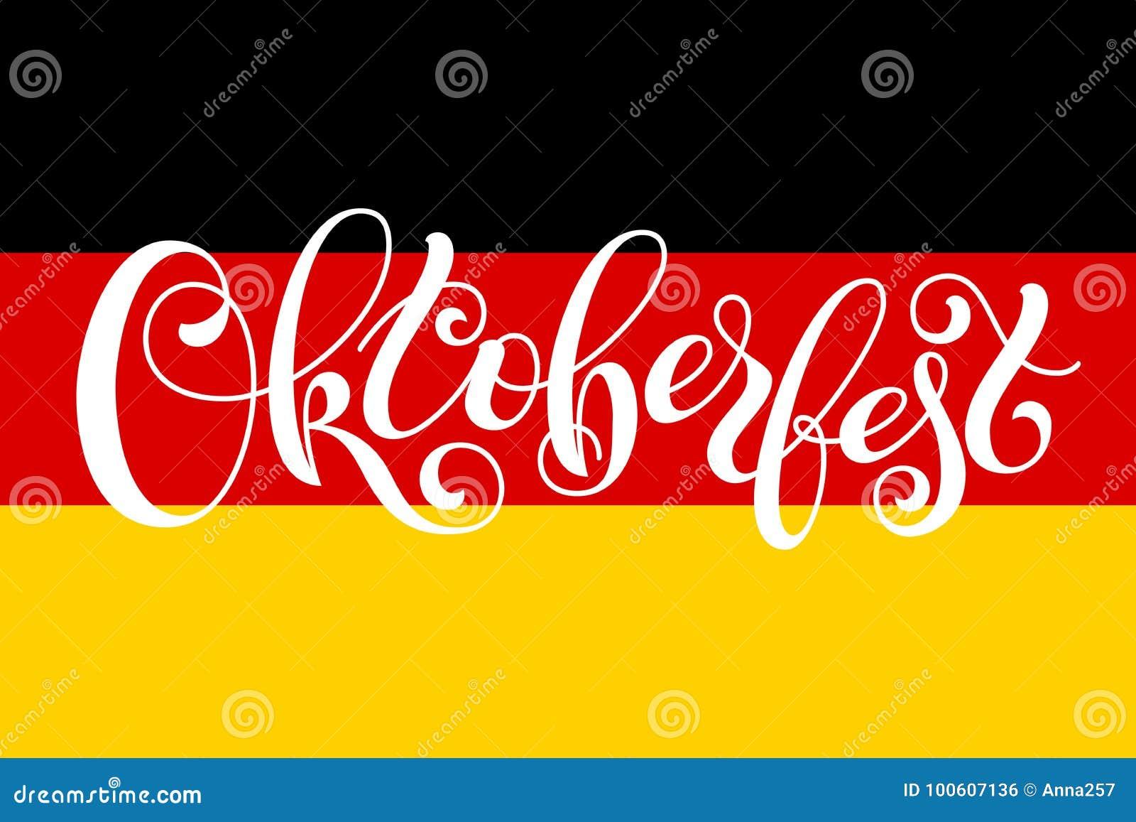 Letterin D Oktoberfest Sur Le Drapeau De L Allemagne Calibre Pour Une Carte Visite Professionnelle