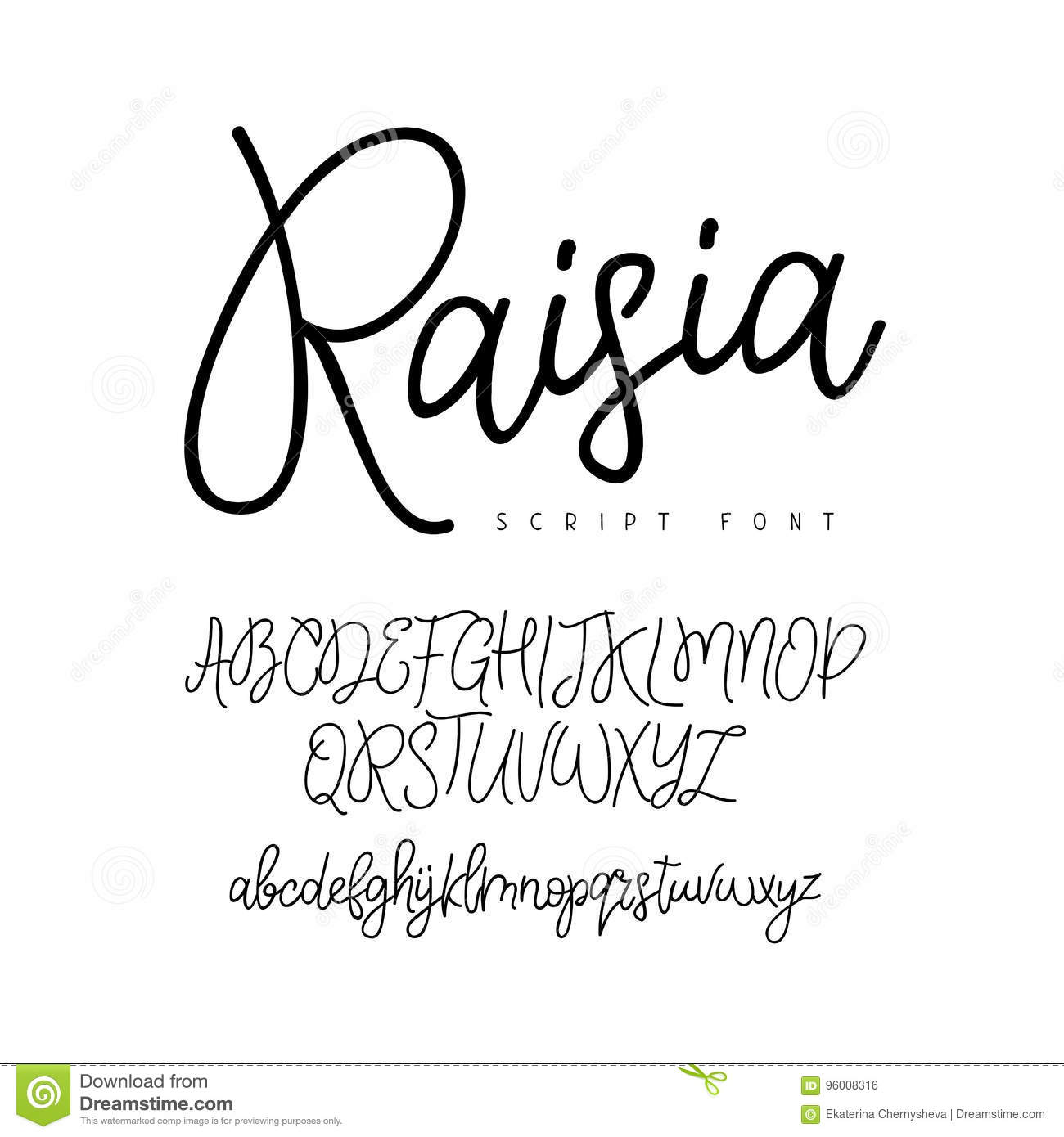 Fashionable Modern Vector Font On White Background Uppercase And Lowercase Letters Lettering Typography Calligraphy English Alphabet