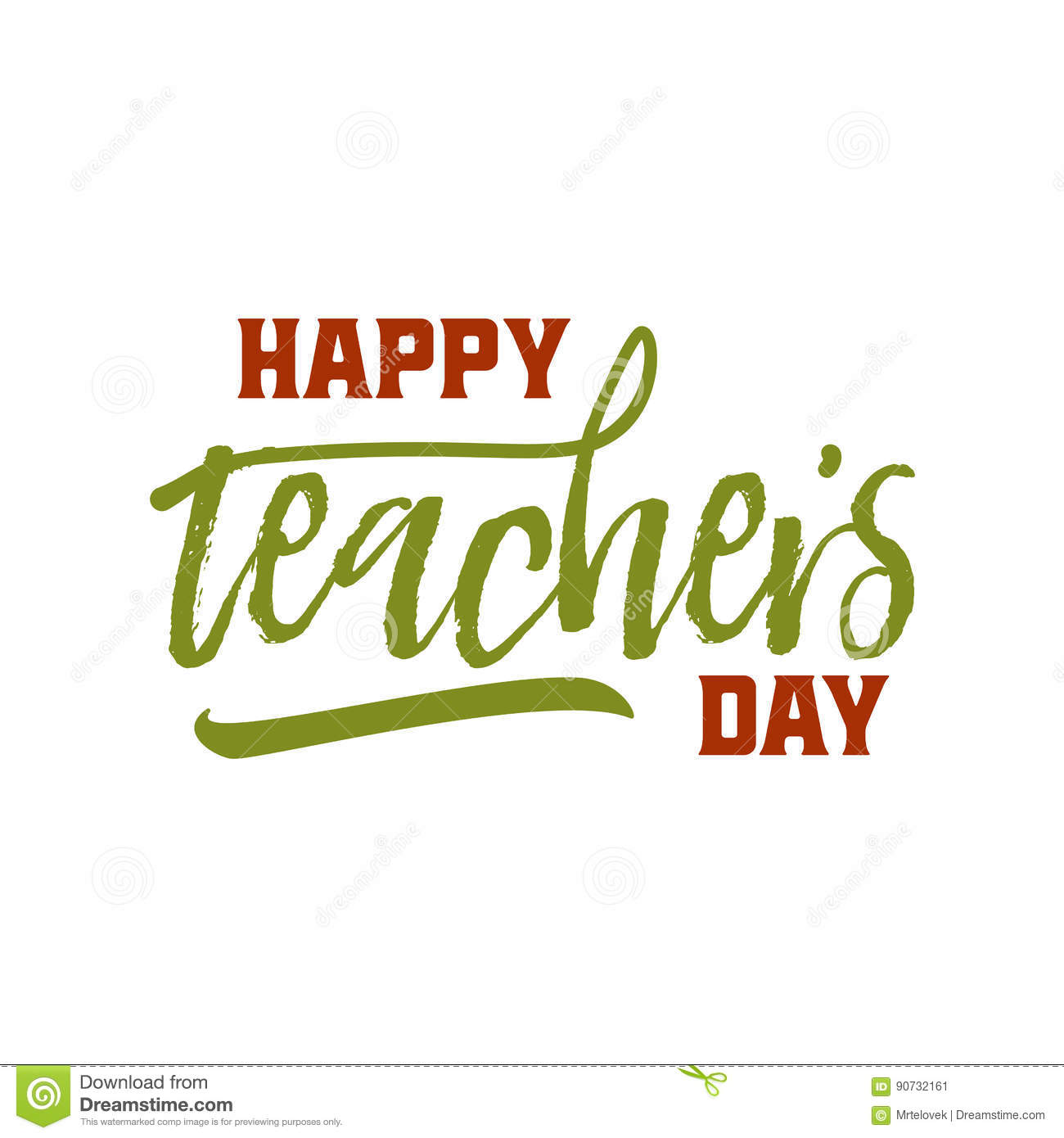 Lettering and calligraphy modern happy teachers day to