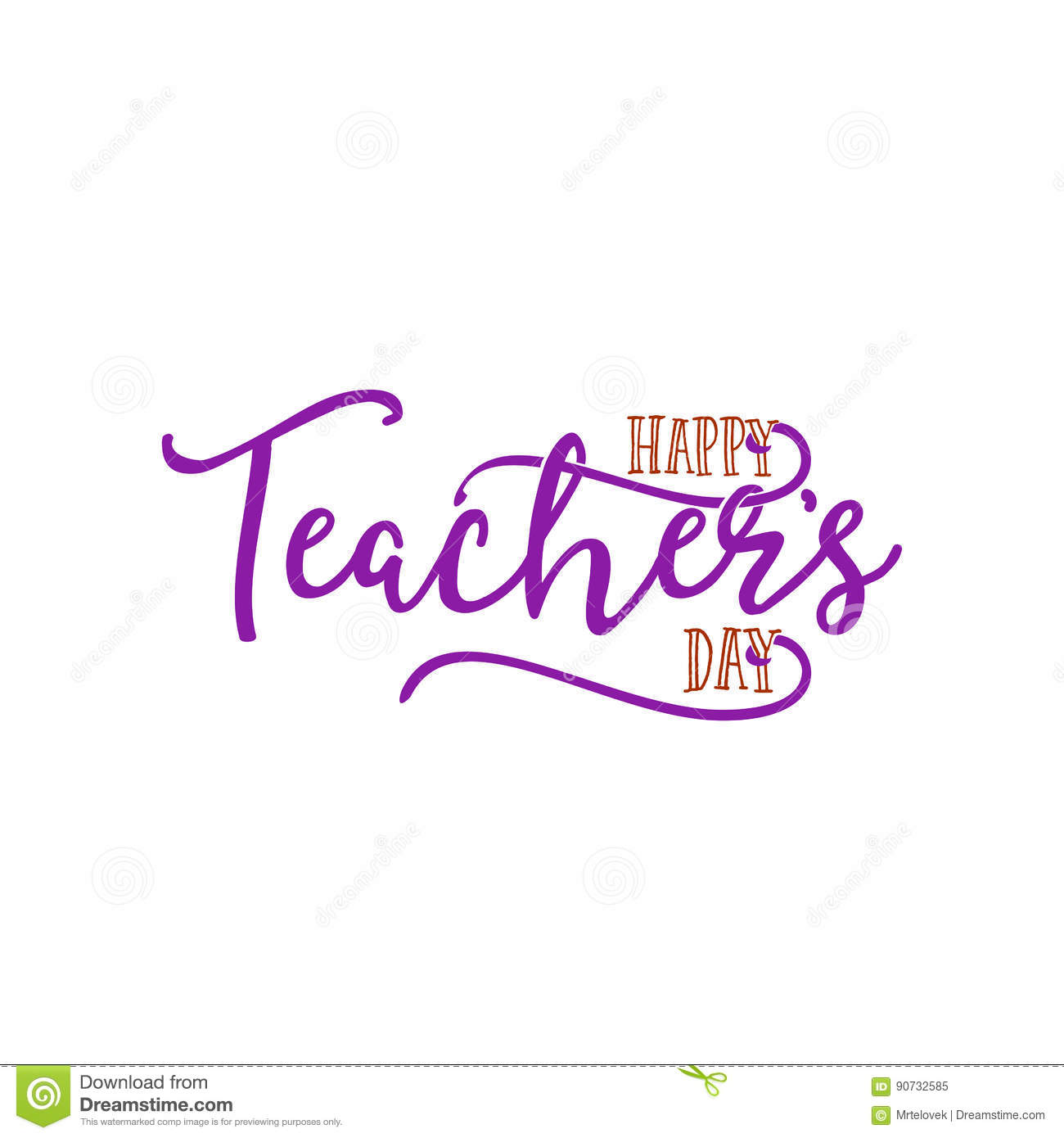 Lettering And Calligraphy Modern - Happy Teachers Day To You