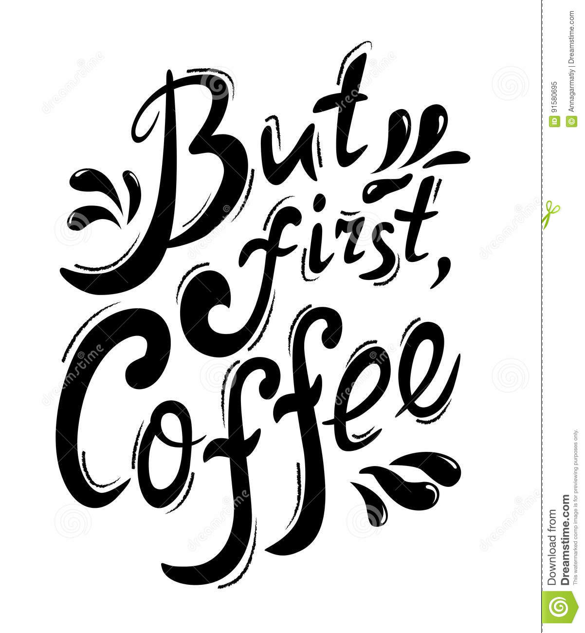 Lettering But first coffee