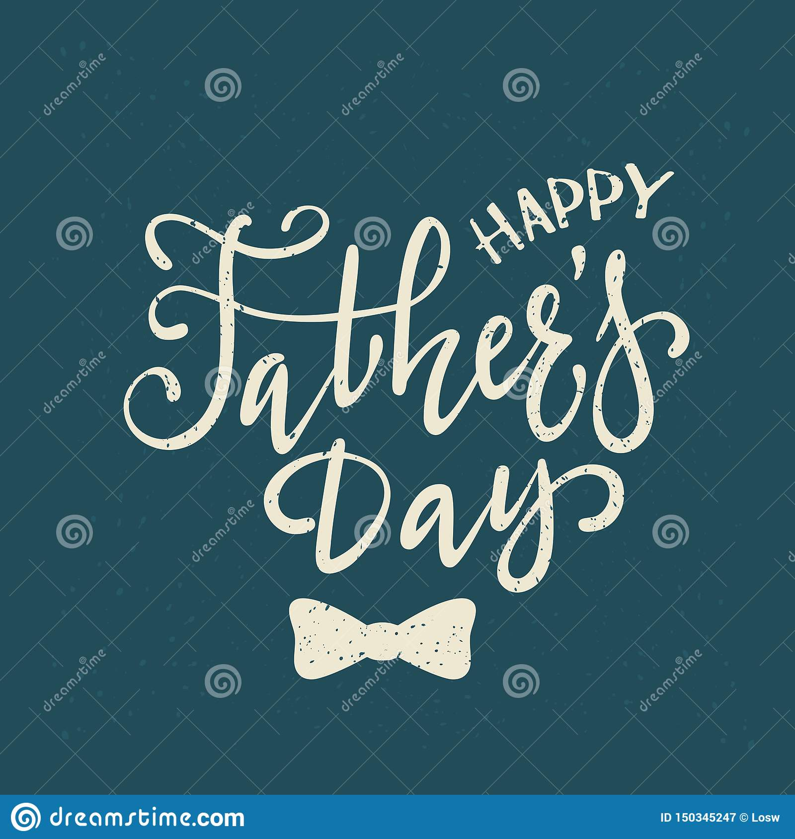 Lettering Happy Fathers Day On Blue Background Stock Vector ...