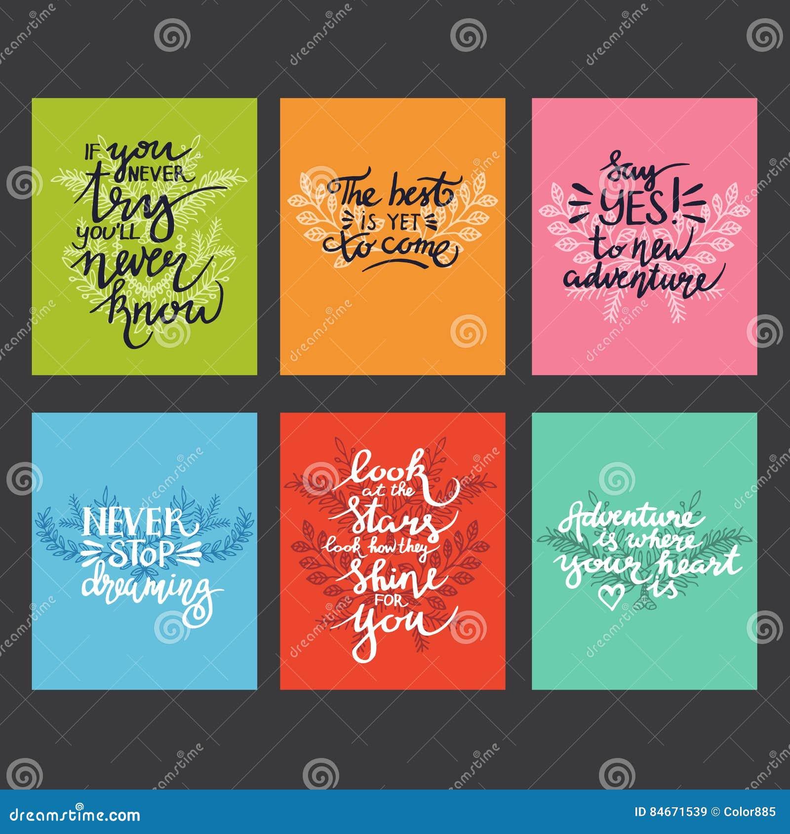 Citaten Over De Zomer : Lettering positieve citaten vector illustratie illustratie