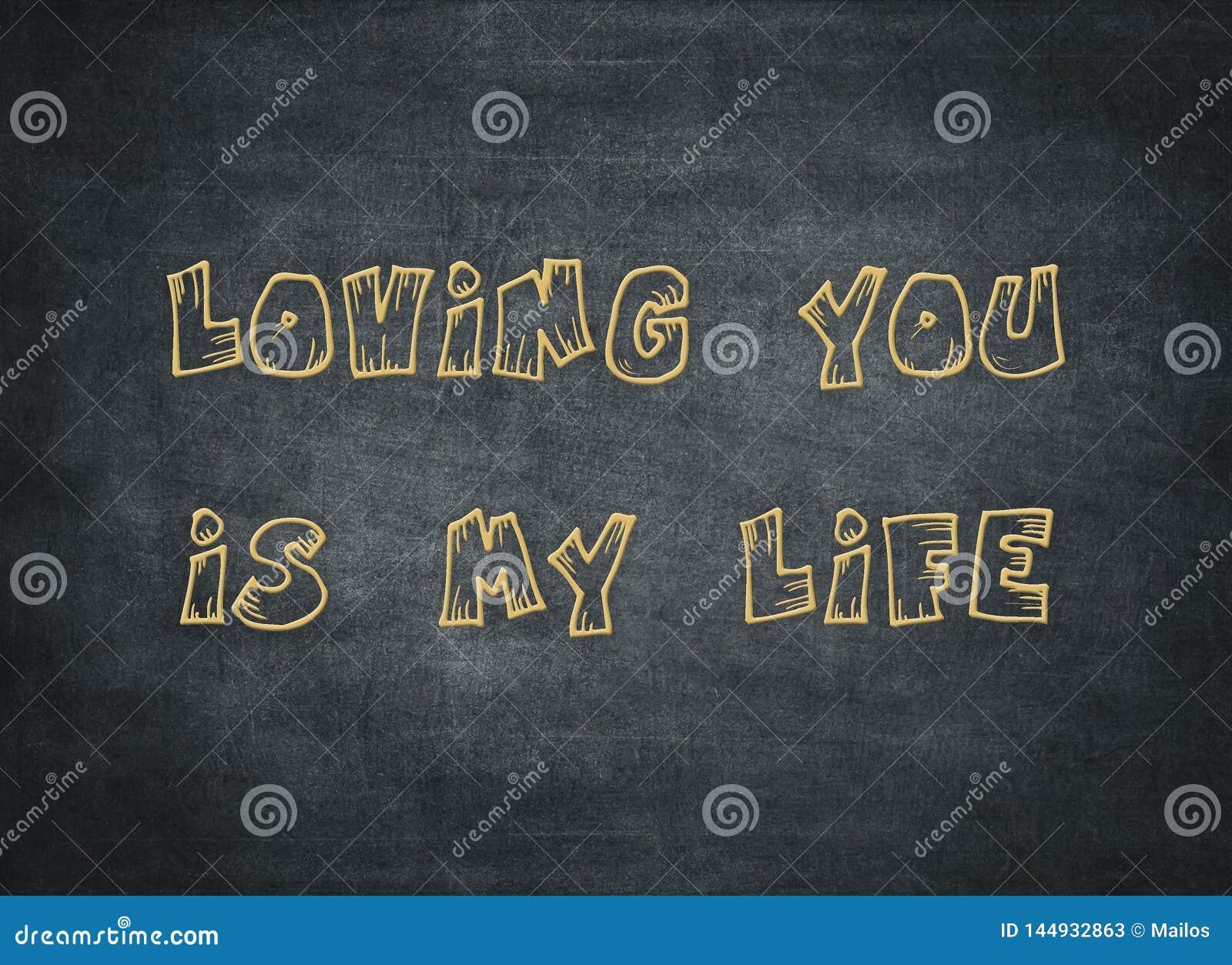 Letterpress καρδιών ζωής αγάπης για πάντα ευτυχές ρωμανικό