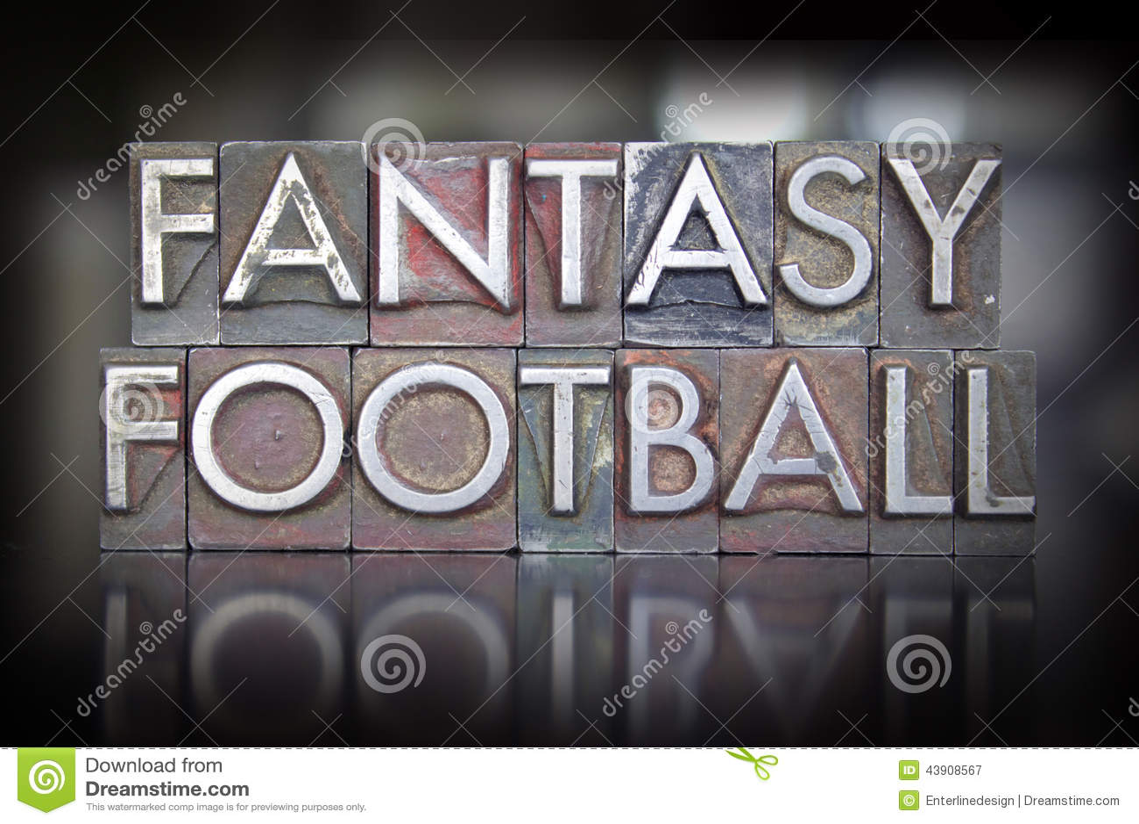Letterpress ποδοσφαίρου φαντασίας