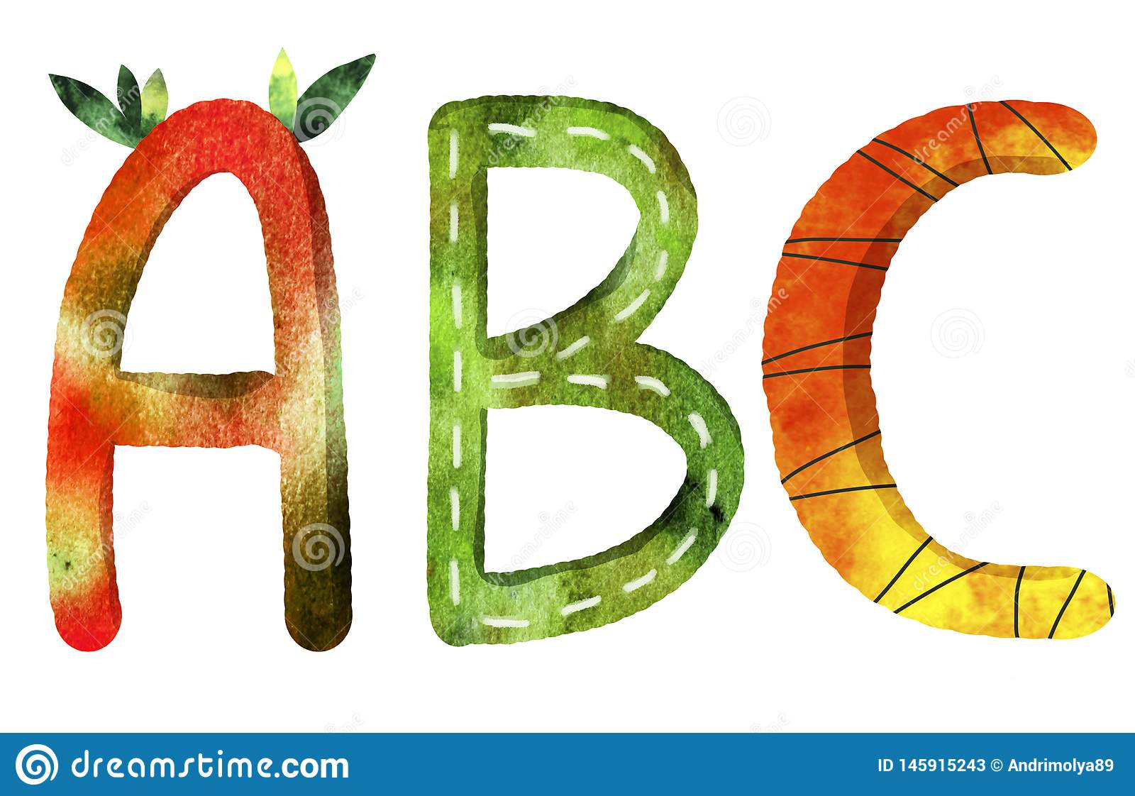 The Letters Of The ABC English Alphabet Stock Illustration