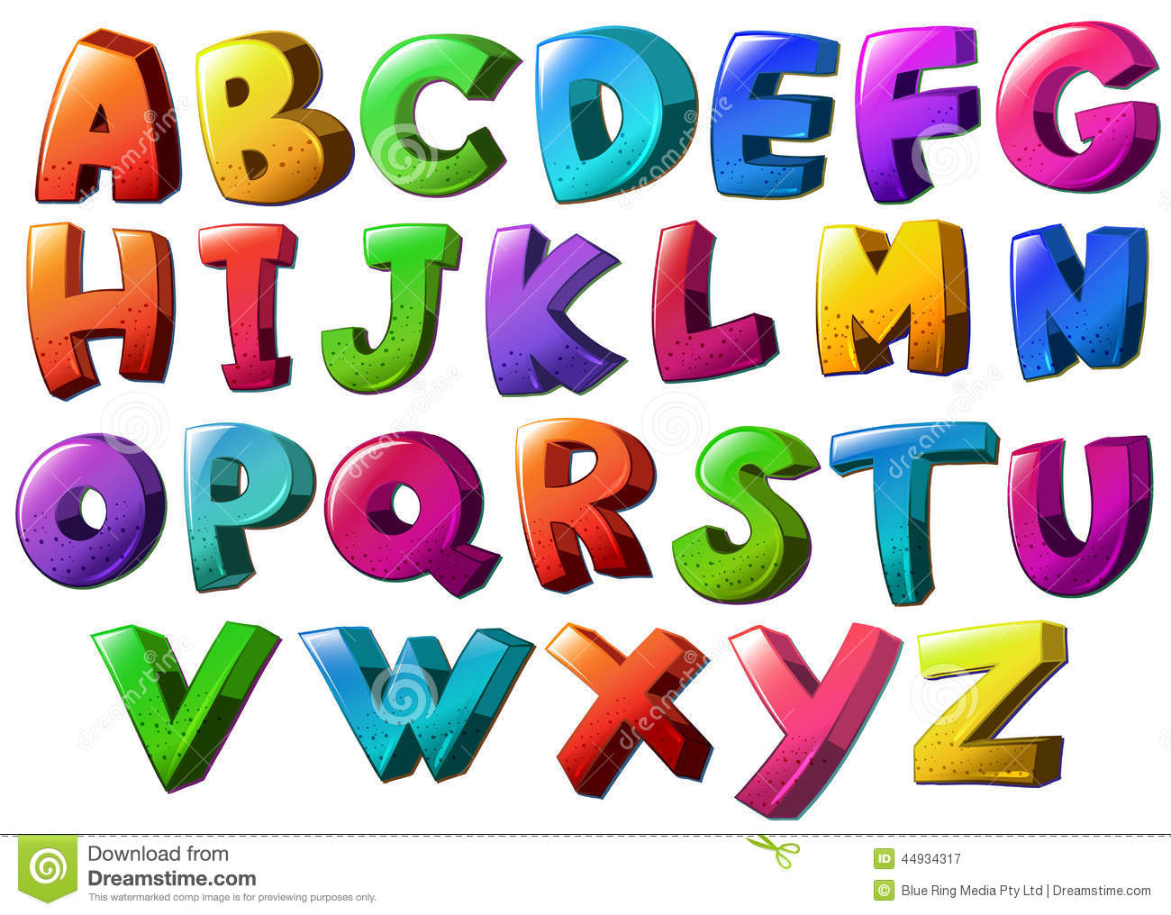 Letters of the alphabet stock vector Image of education
