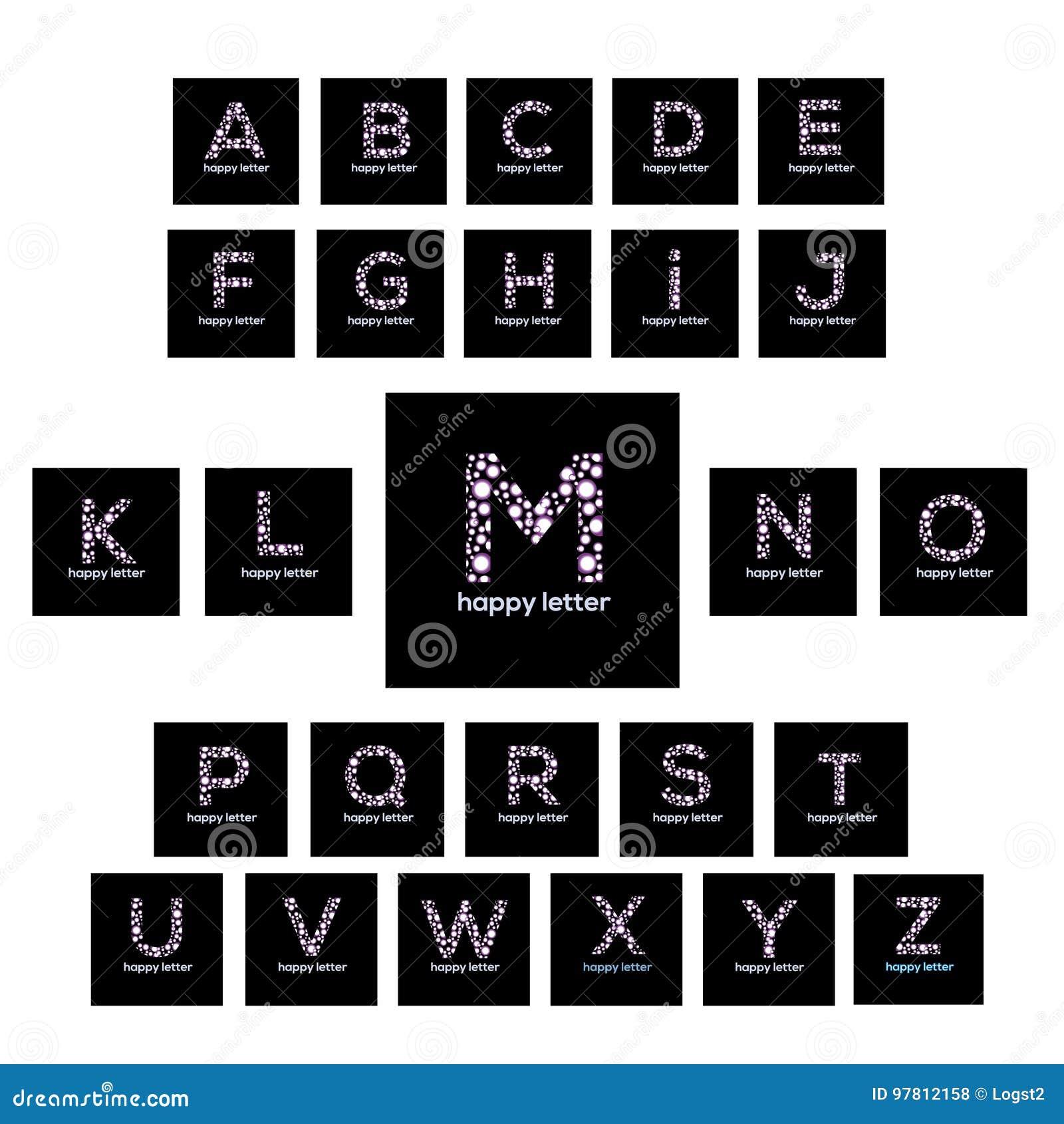 letters of the alphabet bubbles vector logo design