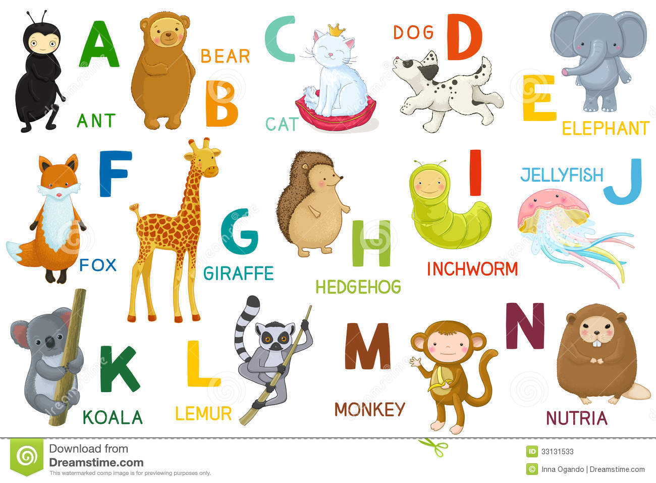 Cartoon Characters Letter Z : Stock photos letters and animals abc image